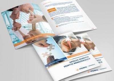 Projekt i druk katalogów dla pracowników.
