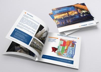 Projekt i druk folderu reklamowego.